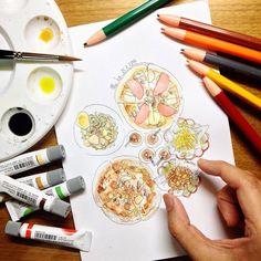pizza-dinner | #mekaworks #drawing #pizza
