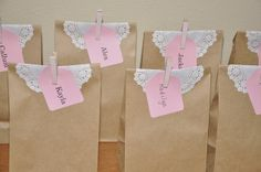 Favors at a Paper bag princess party cute-must-create-for-sure Dragon Birthday Parties, 5th Birthday Party Ideas, Dragon Party, Birthday Fun, Birthday Stuff, Cinderella Birthday, Princess Birthday, Fantasy Party, Tangled Party