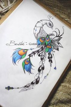 peacock tattoo design