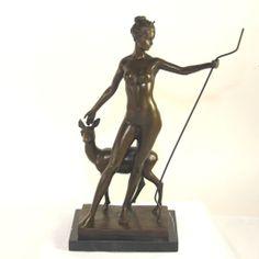 Bronze Sculpture of Diana by American Sculptor Edward Francis McCartan (1879-1947)