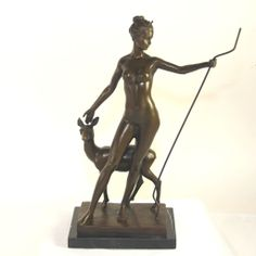 Bronze Sculpture of Diana by American Sculptor Edward Francis McCartan (1879-1947)