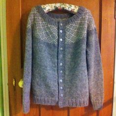 Kate Davies Designs Epistrophy cardigan knitted in Blacker Yarns gorgeous Gotland DK wool