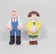 Wallace & Gromit - Mini Figures X 2 Smurfs, Animation, Sculpture, Mini, Fictional Characters, Ebay, Art, Art Background, Kunst