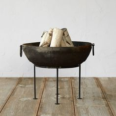 Iron Pedestal Fire Pit in Outdoor Living Fire Pits + Accessories at Terrain
