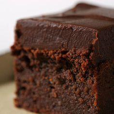 Chocolate Mascarpone Brownies w/ ganache
