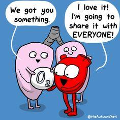 Feb 23, 2018 Heart & Brain Biology Jokes, Medical Jokes, Chemistry Jokes, Ap Biology, Teaching Biology, Science Biology, Biology Lessons, Science Memes, Science Activities