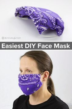 How to make a Bandana Mask, the easiest no-sew face mask. #facemask #masksnow #mask #homemademask #bandanamask #diyfacemask #diymask
