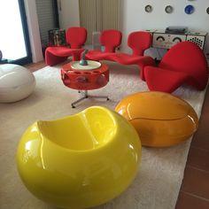 Eero Aarnio Pastil Chair, Olivier Morgue Djinn Space Odyssey Brionvega R 226