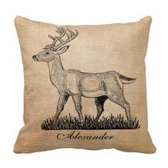 Deer Buck and Doe Burlap Rustic Wedding Couples. Great for Wedding Gift or Family Cabin With His and Her Names on either side with Deep Buck or Doe. Cute Gift for your favorite Couple.