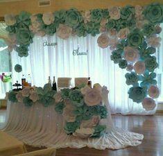 Decoración de flores Mesa para 15 añera  Mesa para novios