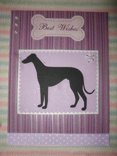 Greyhound Best Wishes Card