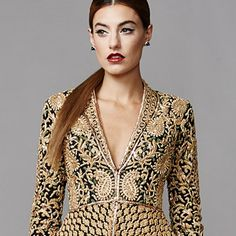 jani khosla couture 2015 bridal evening wedding dress gold black 300