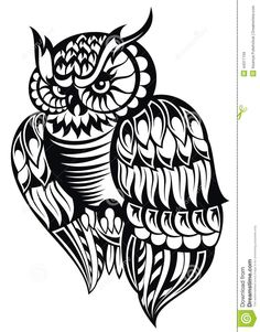 Illustration about Black and white owl tattoo design. Illustration of silhouette, animal, isolated - 44317159 Owl Vector, Vector Art, Owl Tattoo Design, Tattoo Designs, Tattoo Ideas, Tier Doodles, White Owl Tattoo, Black And White Owl, Animal Doodles
