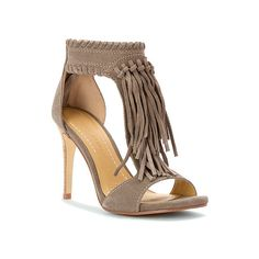 38e0f13df8aa90 Chinese Laundry Santa Fe Fringe Sandal ( 100) ❤ liked on Polyvore featuring  shoes