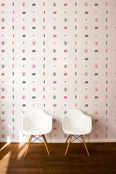 London Icons Wall Pattern Repeatable Decal Wall by danadecals