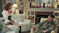 Fireplace and bookcases from Last Man Standing.