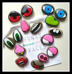 Funny Faces Story Stones You can find me on facebook https://m.facebook.com/stonecraftforyouuk