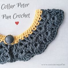 Crochet Poncho With Collar Peter Pan Ideas Col Crochet, Crochet Lace Collar, Crochet Diy, Crochet Amigurumi Free Patterns, Crochet Poncho, Crochet For Kids, Peter Pan, Crochet Socks Tutorial, Crochet Baby Mobiles