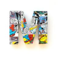 Spiderman Comic Book Door Sign Mounted Letters Custom Super Hero Initials Boys