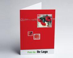 #Logokarte #Grusskarte roter Mohn
