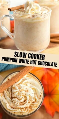 Creamy, flavorful and comforting this Slow Cooker Pumpkin Hot Chocolate is your must make fall drink. Easy, minimal ingredients and delicious.