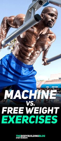 Check out what is the better form of exercising - Machine or Free weight! #fitness #gym #bodybuilding #exercise #workout