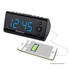 pack de 2 MAGNASONIC Projection Radio-réveil Avec Batterie Backup /& double alarme