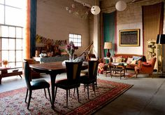 "- ""This was our dinning and living room where we hosted meetings and parties and received our clients and  friends."""