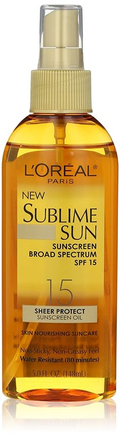 L'Oreal Paris Sublime Sun Advanced Sunscreen Oil Spray SPF 15, 5.0 Ounce -- Find out more about the great product at the image link.