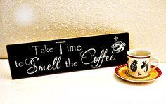 Wood Coffee Sign Kitchen Decor Coffee Decor Take by MulberryCreek