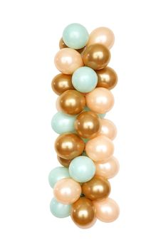 The CALIFORNIA palette - Mint, Gold and Peach Latex Balloons for Birthday, Bridal or Baby! http://www.luftballoonstore.com/shop/california-balloons