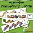 My students will enjoy showing off their patterning skills with these cute Nutrition/Food patterning cards!