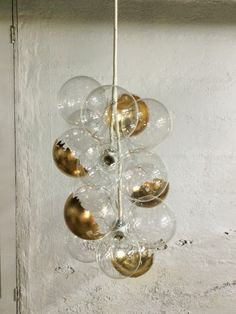 The Waterfall Pendant Glass Bubble Chandelier by TheLightFactory