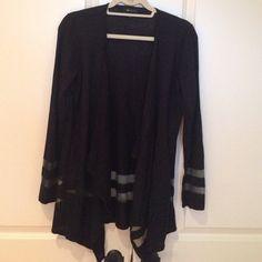 AB Studio flyaway sweater sheer stripes M excellent Sweaters