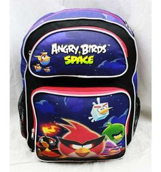 """16"""" Angry Birds Space Large Backpack-tote-bag-school, , 15.00"""