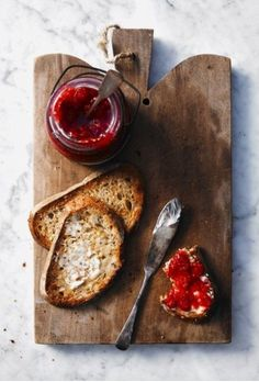 Bread, butter and jam. The simplest of food porn. (Photo by John Cullen. Food styling by Ruth Gangbar. Breakfast And Brunch, Breakfast Recipes, Breakfast Healthy, Healthy Eating, Brunch Food, Breakfast Pizza, Health Breakfast, Healthy Nutrition, Breakfast Ideas