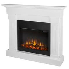 Real Flame 47.4-in W 4780-BTU White Wood LED Electric Fireplace with Thermostat and Remote Control | $536
