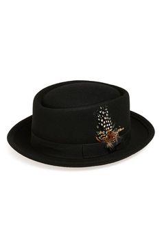 de6abd825a2 Tildon Feather Embellished Wool Bowler Hat available at  Nordstrom Pork Pie  Hat