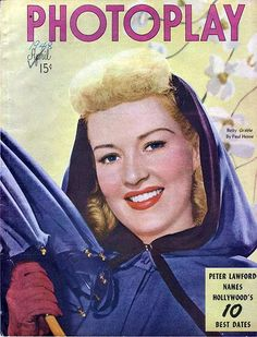 Betty Grable - Photoplay magazine - April 1948.