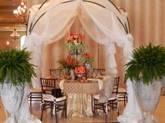 Romantic tablescape for NACE Tabletop Wow at Palazzo Grande