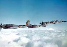 De Havillard Mosquito B IVs of No 139 (Jamaica) Squadron RAF Bomber Command, flying in formation - 10 February 1943