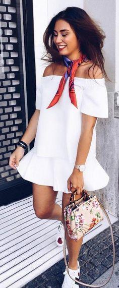 Cute Summer Outfit Ideas #summerdress #summeroutfit #summerstyle
