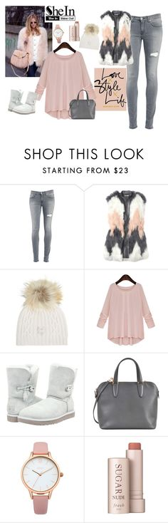 """""""Winter city chic- made by my sister <3"""" by sombre-lune ❤ liked on Polyvore featuring Dondup, Rebecca Taylor, M. Miller, UGG Australia, Valextra, Oasis and Fresh"""