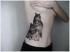 I LOVE this wolf tattoo