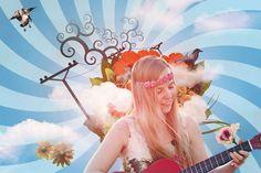 #artist #artistic #band #celeste #color #colorful #conceptual #desktop wallpaper #digital art #dreamer #fantasioso #female #fictional #flowers #girl #guitarist girl #imaginary #imaginative #lady #modern #music #musici