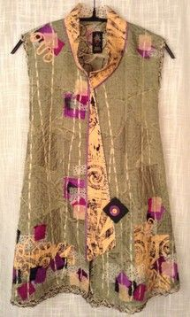 (Spring 2015 - Diane Prekup Fiber) Love the soft flow of the fabric. Textiles, Altered Couture, Altering Clothes, Looks Vintage, Sewing Clothes, Art Clothing, Refashion, Dressmaking, Wearable Art