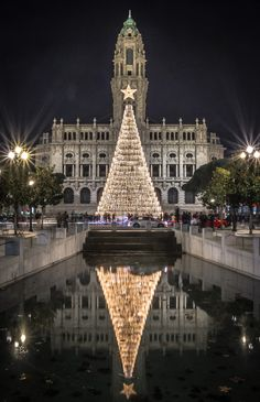 Porto city hall at Christmas time #Portugal