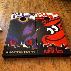 Birdland Themed Orioles & Ravens Baltimore by BKsquaredDesigns