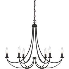 Iron 5-light Black Chandelier | Overstock.com Shopping - The Best Deals on…