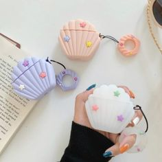 Cute Cartoon Shell Case For Airpods 2 Case Silicone Earphone Case For Apple Air pods Case Wireless Earphone Cover For Earpods Cute Ipod Cases, Iphone Cases, Bluetooth Wireless Earphones, Headphones, Accessoires Iphone, Earphone Case, Airpod Case, Air Pods, Ipad